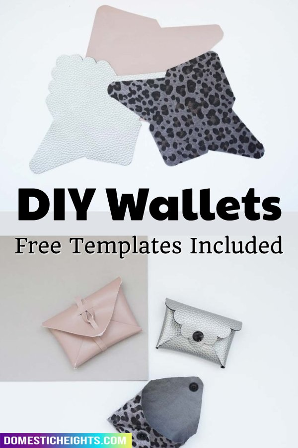diy leather wallet template