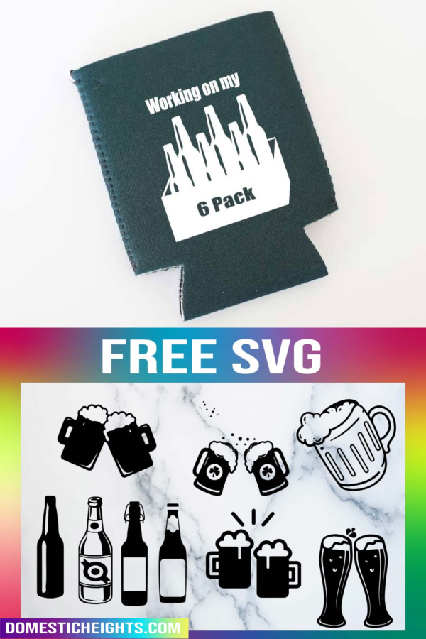 free beer bottle and mug svg