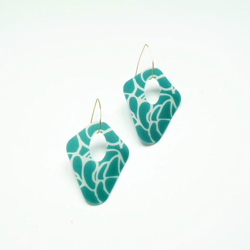 Abstract kite earrings