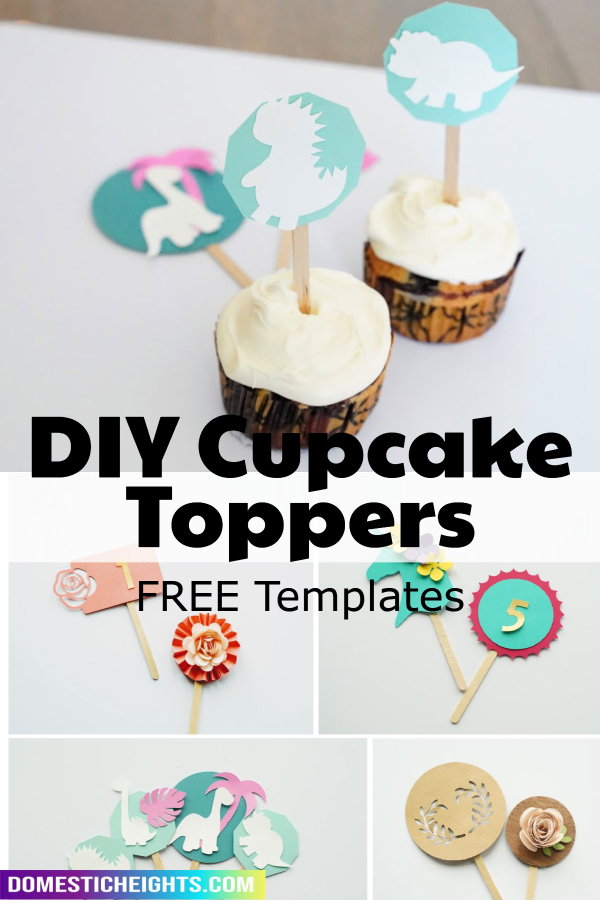 cupcake toppers with cricut