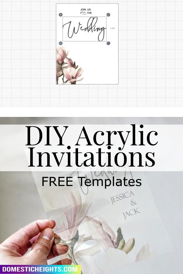 acrylic invitations wedding