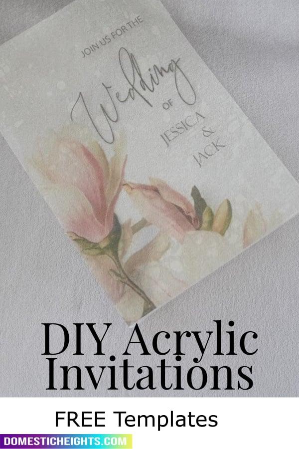 acrylic wedding invitations cricut