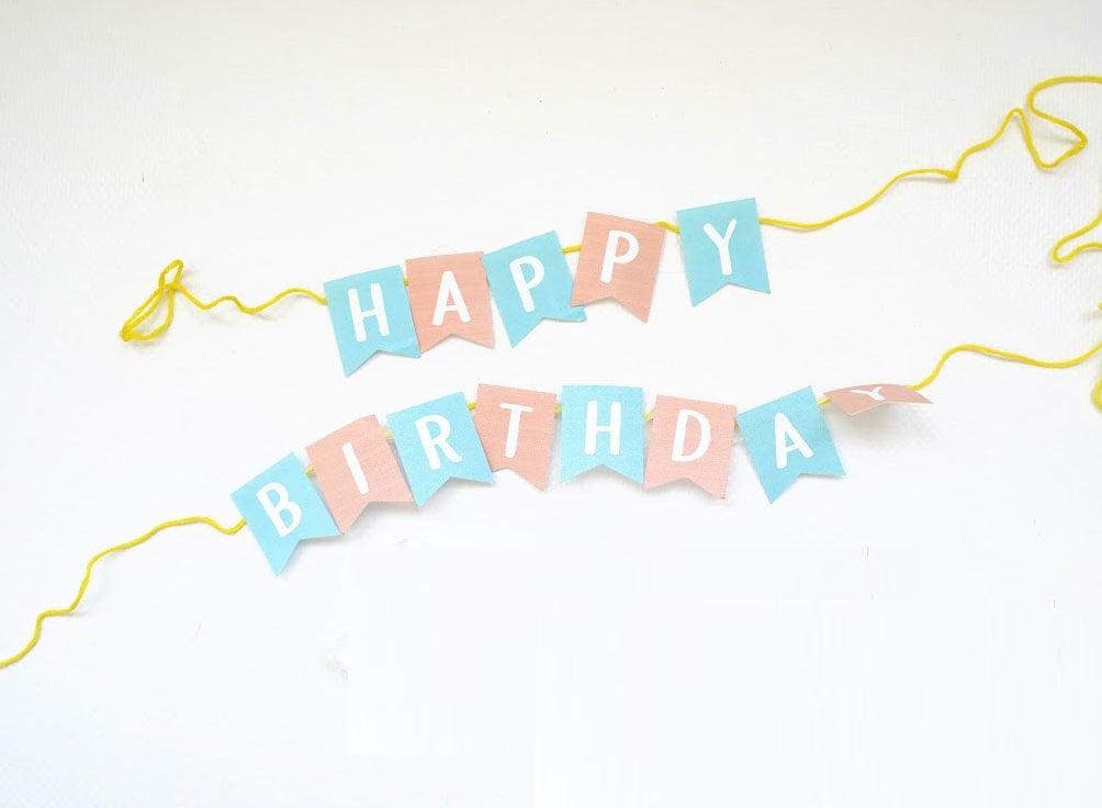 DIY birthday banner