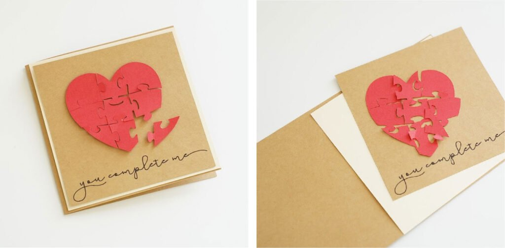 diy anniversary card for husband