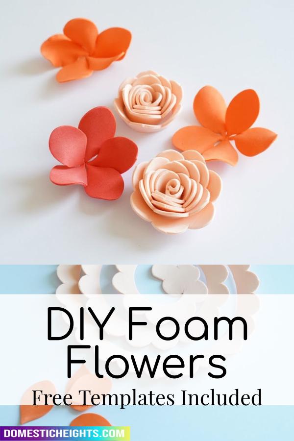 foam flower template