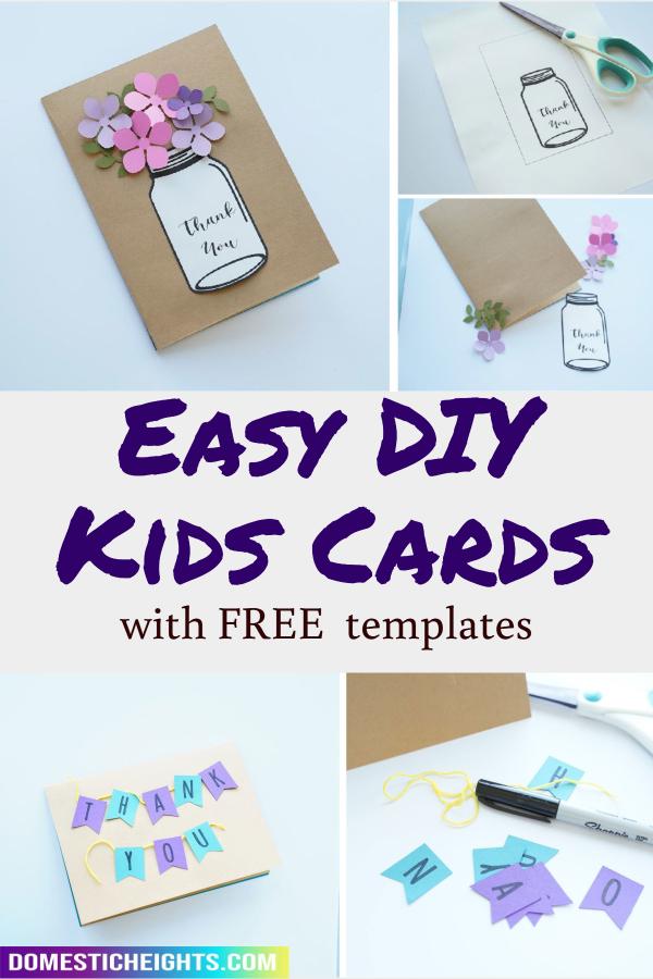 homemade thank you cards ideas