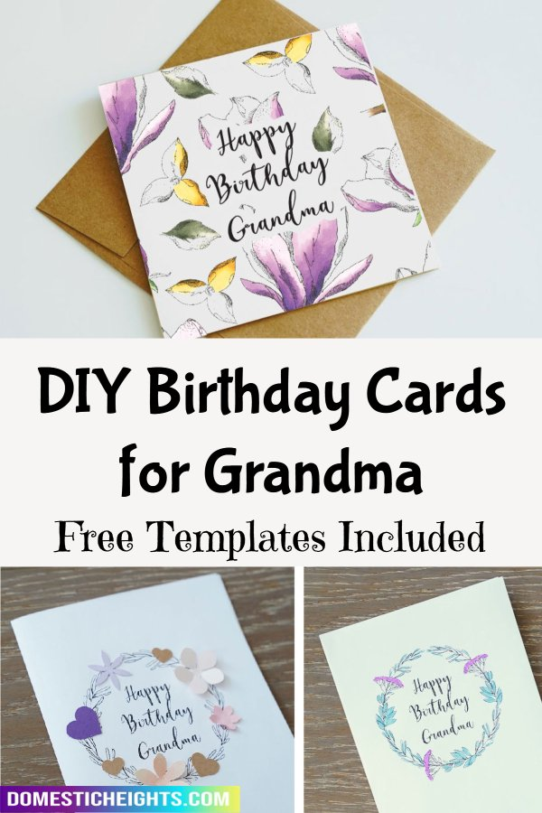 birthday card for grandma diy
