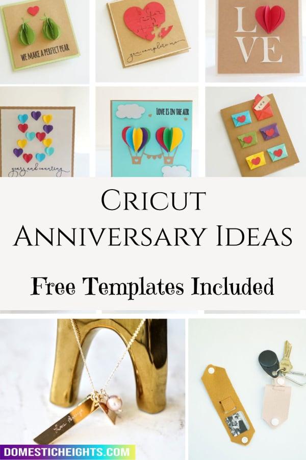 cricut anniversary ideas
